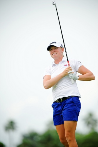 Stacy Lewis wasn't too pleased with her landing