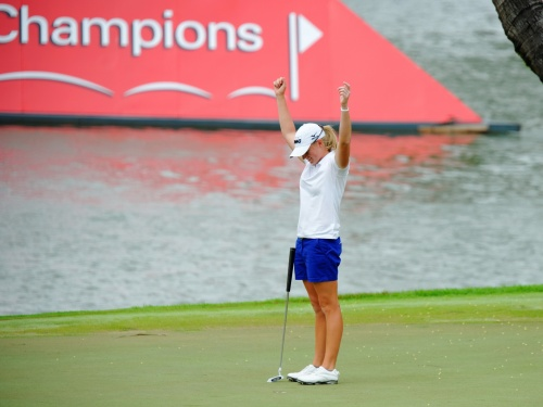 Stacy Lewis happy with her win